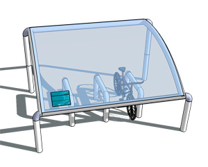 Solar Powered Cycle Shelter Lighting