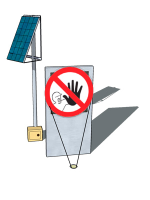 Solar Powered Lighting Kit for Warning Signs